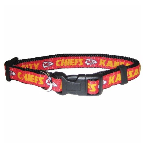 Pets First NFL Kansas City Chiefs Collar, Small -