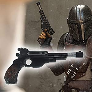 Bulex Star Wars Mandalorian Gun, Resin Pistol Toy Classic Replica Gun Kit Halloween Props for Men Women Girls Boys Kids Children