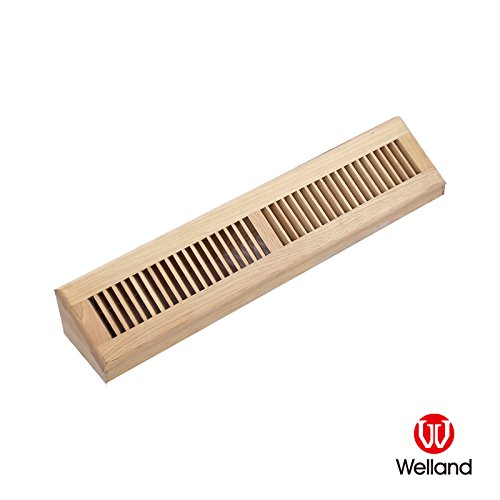 - WELLAND 24 Inch Hickory Hardwood Vent Baseboard Diffuser Wall Register Unfinished