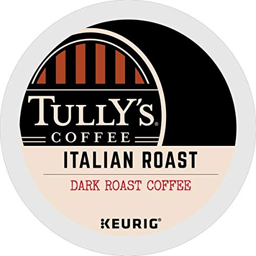 Tully's Coffee, Italian Roast, Single-Serve Keurig K-Cup Pods, Dark Roast Coffee, 96 Count (4 Boxes of 24 Pods) by Tully's Coffee