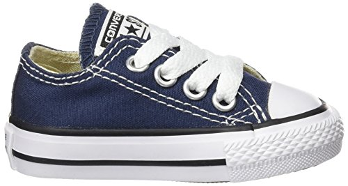 Converse Chuck Taylor All Star Ox, Sneakers Basses Mixte Bébé Bleu (Navy Blue)