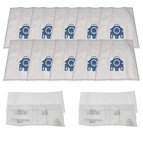 - ZVac (10 Bags + 4 Filters) Compatible Vacuum Bags/Filters Replacement for Miele GN Airclean Vacuum bags Fits all Miele Vacuum Cleaners using Miele GN Vacuum Bags or Filters