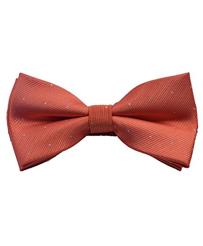 ORSKY Pre Tied Mens Bowtie for Party Wedding Tuxedo Orange Bow Tie Orange