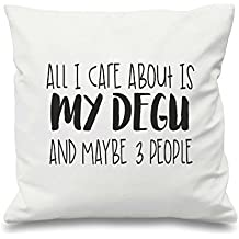 All I Care About Is My Degus And Maybe Three People Pillow Covers Decorative 18 x 18 Quotes Christmas Throw Pillow Covers Inspirational Gifts