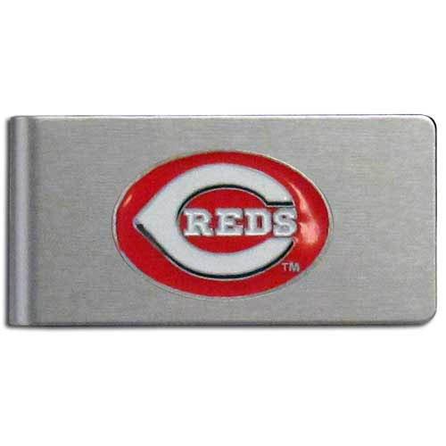 MLB Cincinnati Reds Brushed Money Clip