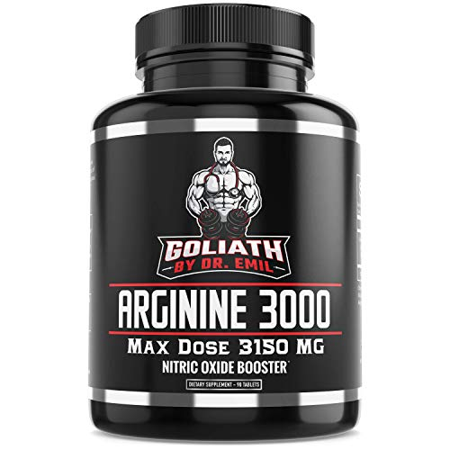 Dr. Emil - L Arginine (3150mg) Highest Capsule Dose - Nitric Oxide Supplement for Muscle Growth