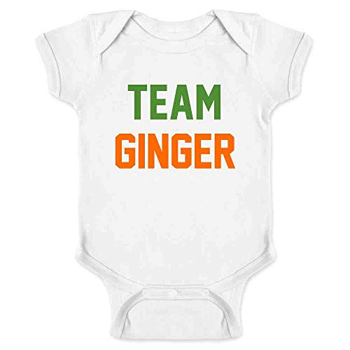 Blue Bodysuit Without Head (Pop Threads Team Ginger Funny St. Patrick's Day Funny Cute Redhead White 12M Infant)
