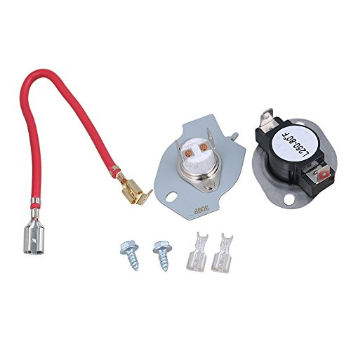 Clothes Dryer Thermostat Assembly (RDEXP N197 Dryer Thermostat Kit Assembly for 279816 AP3094244 PS334299 Dryer Replacement Part)