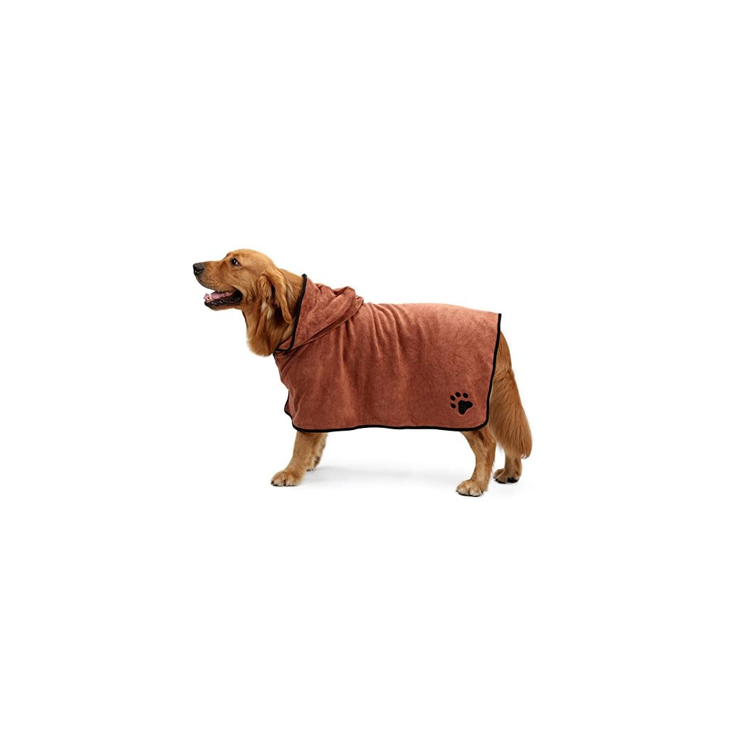 Dog wearing a Drying Towel with Hood