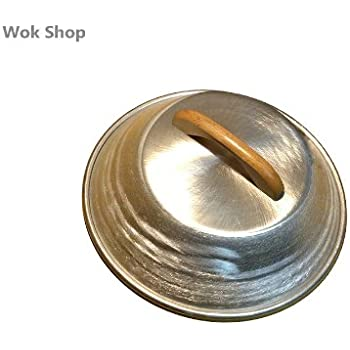 Amazon Com Wok Shop Aluminum Dome Flattened Top Wok Cover