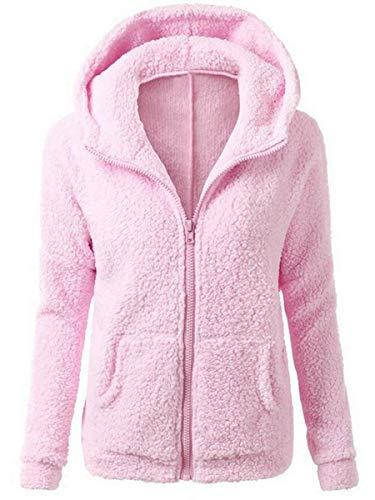 Manteau Chaud Automne Polaire Rose Vertvie Capuche Sweat Femme Veste Hiver Shirt Zipp Hoodie 0znqTvz
