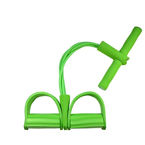 Fitwhiz Resistance Band Yoga Sports Equipment for Belly Abdomen Waist Arm Leg Exercise, Portable Home Gym Sit-ups Device with Elastic Bodybuilding Fitness Slimming Training Exercise Bands (Green)