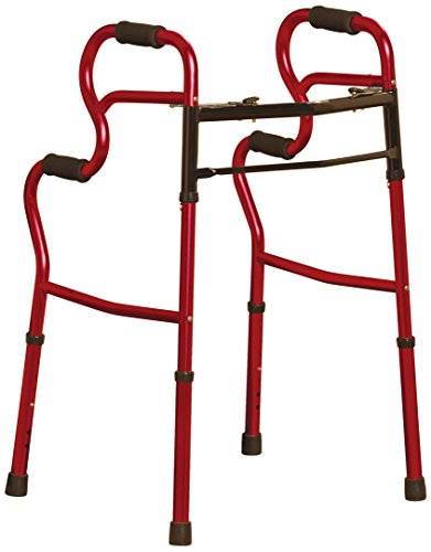 Medline 3 in 1 Two Button Walker Red
