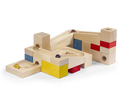VARIS Wooden Marble Run, Early Learning Construction Toys for Kids, European Made Puzzle Blocks
