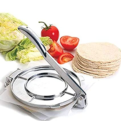 20CM Foldable Tortilla Aluminum Flour Corn Baking Press Maker Home Kitchen