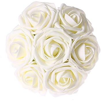 Amazon.com: SOLEDI Artificial Flowers 18 Heads Mix Color Simulation ...