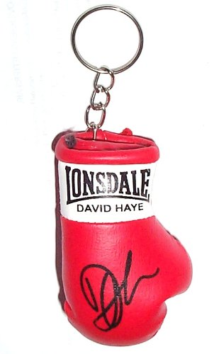 Autografiada Mini llavero guante de boxeo David Haye: Amazon ...