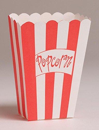 Hollywood/Movie Night Theme Party - Large Popcorn Treat Boxes x 8