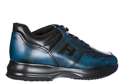 Hogan Scarpe Da Uomo Sneakers In Pelle Da Uomo Interattive Blu