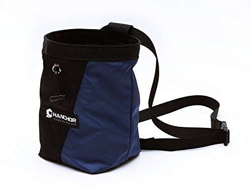 HANCHOR Kangaroo 2 in 1 Chalk Bag, w/ Built in Chalk Sock and Adjustable Quick clip Waist Belt, and Drawstring Closure For Rock Climbing, Bouldering & Gymnastics