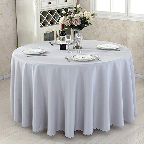 HHS Megan-TC Nappe Anti-tÂche de Table Couverture de Table en Plastique de Table de Pique-Nique Polyester de Nappe de Mariage rectangulaire (Couleur   C9, Taille   150'')