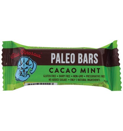 Blue Dinosaur Paleo Bar Cacao Mint 45g x 12