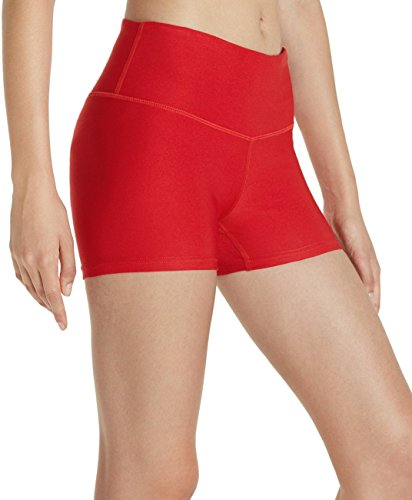 Red Spandex Shorts - Tesla TM-FYS01-RED_Small Shorts 3
