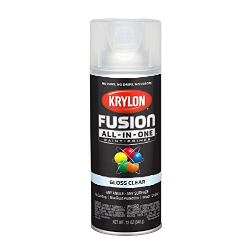 Krylon K02705007 Fusion All-in-One Spray Paint, Clear