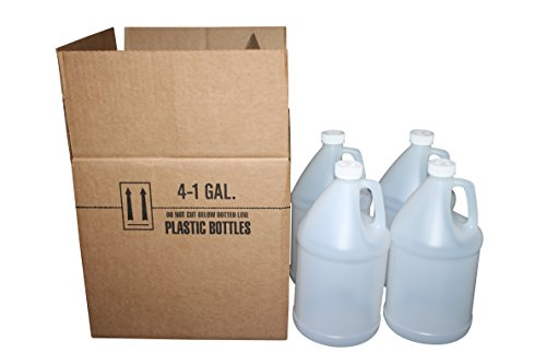 Ecoxall - Bulk Empty HDPE Bottle Plastic Jug with Childproof Cap - 1 Gallon (128 Ounces) - Case of 4 (1 Oz 128 Bottle Gallon)