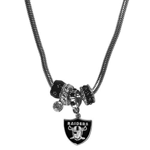 Siskiyou NFL Oakland Raiders Euro Bead Necklace, -