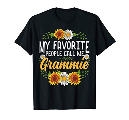 My Favorite People Call Me Grammie Shirt Thanksgiving Gifts T-Shirt