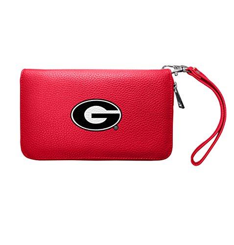 (NCAA Georgia Bulldogs Zip Organizer Pebble Wallet )