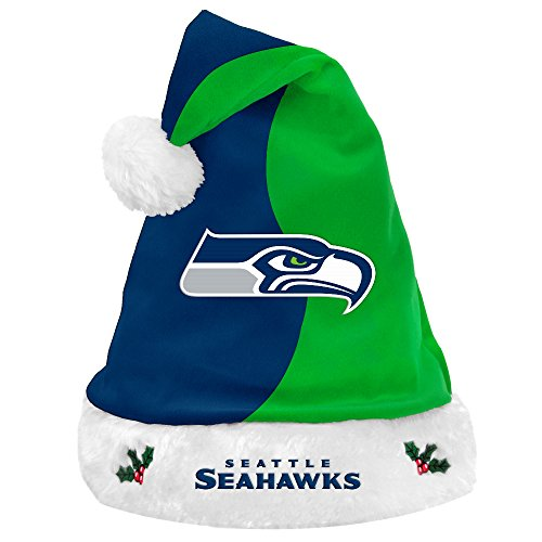 Seattle Seahawks 2017 NFL Basic Logo Plush Christmas Santa Hat