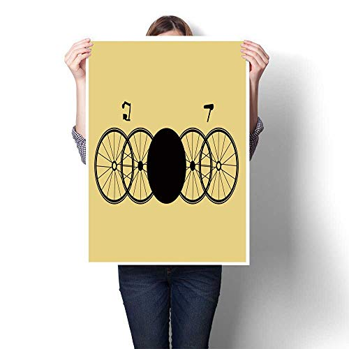 1 Piece Wall Art Painting Unreal Stylized Bicycles for Background Postcard Calendar Booklet Label Oils,16