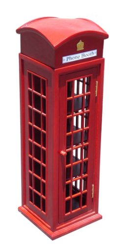D-ART COLLECTION Mahogany London Telephone Display Case, Mini