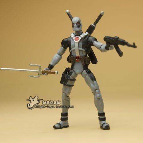 3.75in Comics Series Action Figure Loose Gray Deadpool X-Man G188 New No Box
