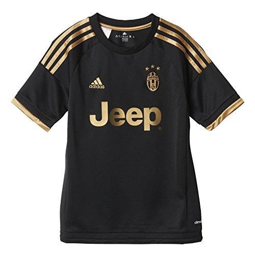 Adidas Juve 3JSY Y Jungen T-Shirt Schwarz / goldfarben