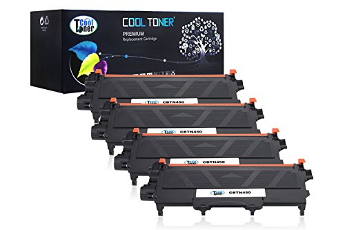 Cool Toner Compatible Toner Cartridge Replacement for Brother TN450 TN-450 (Black, 4-Pack) (Brother Tn450 Toner Refill compare prices)