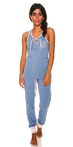 U.S. Polo Assn. Womens 2 Piece T-Shirt Lounge Pants Pajama Sleepwear Set Light Denim Heather X-Large by U.S. Polo Assn.