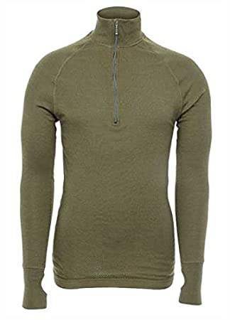 Brynje – Tactical Double Arctic Zip Polo, Color Verde Oliva ...