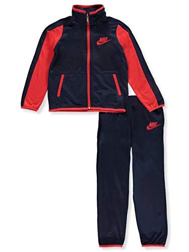 Nike Boys Jacket & Pants Track Suit Set Sweatsuit, Obsidian/Red (5)