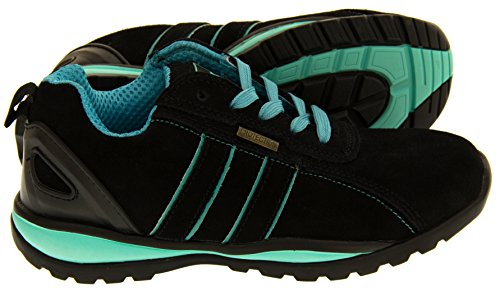 Northwest Territory Ottowa Black And Blue/Green Suede Leather Toe Cap Safety Shoes 8 B(M) US by Northwest (Image #3)