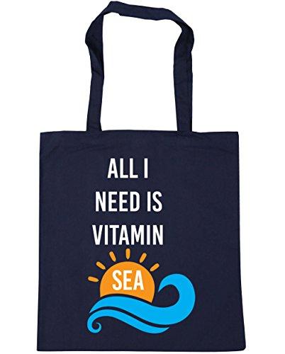 HippoWarehouse - Bolsa de playa de algodón  Mujer, coral (naranja) - 14314-TOTE-Coral azul marino