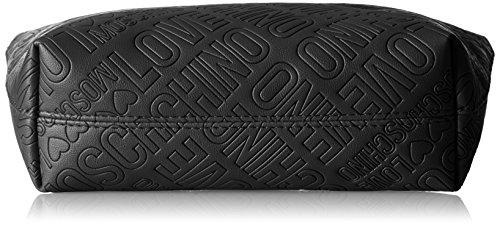 Love Moschino Damen Bustina Embossed Pu Nero Clutch, Schwarz (Black), 14x24x7 cm