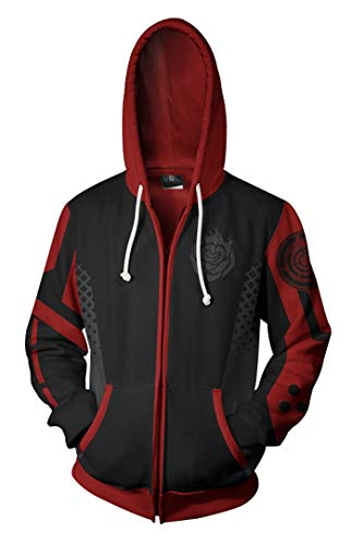 Wish Costume Shop Anime RWBY Cosplay Costume Hoodie Rose Zipper Sweatshirt (M, Rose) (Best Cosplay Costume Shop)