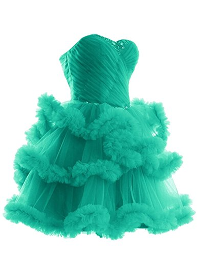 With Cocktail Beads Dress Compleanno Del Reg; Perline Promenade Reg Da Clouds Con Vestito Prom Di Tulle Nuvole Bridal Verdi Birthday Green Aurora Di Sposa; Cocktail Tulle Aurora Pqwv78A8