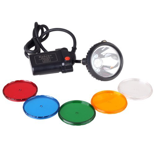 Kohree Waterproof IP65 CREE XML U2 10W LED 800 Lumens 2-Mode Hunting Light Headlamp 6600mAh Mining Headlight Lamp for Hog, Coon, Coyote, Fox Hunting by Kohree