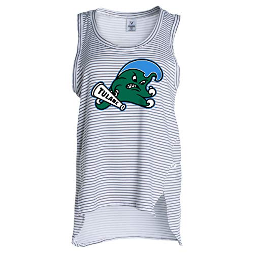 Official NCAA Tulane Green Wave - Women's Stretchy Striped Tank -