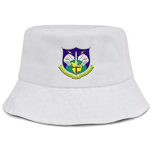 Structured Bucket Hats for Women Cotton Unisex Packable Beach Sun Hat Fisherman North American Aerospace Defense Command Wide Brim Caps