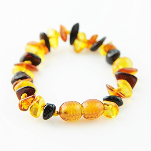 Multi Color Genuine Baltic Amber Teething Bracelet and Anklet Baby Beads for Teethers